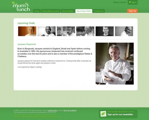 Mum's Lunch - Agency Work - Chef Listing