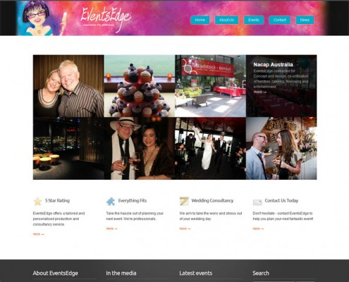 EventsEdge - Web Design - Homepage