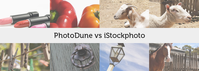 PhotoDune vs iStockphoto