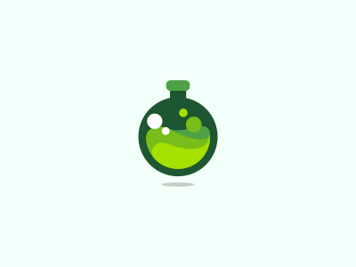 Green Flask Icon