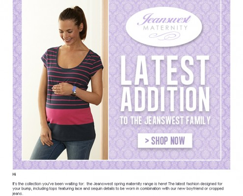 Jeanswest EDM - Maternity [top]